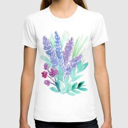 Lavender Floral Watercolor Bouquet T-shirt