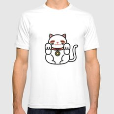 Cats. MEDIUM Mens Fitted Tee White