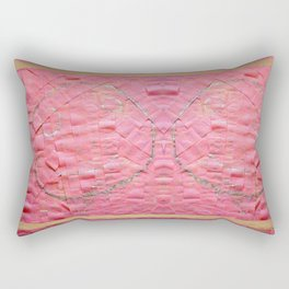 Smile on a pink toilet paper Rectangular Pillow