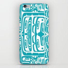 Bentwood Box Teal Formline iPhone Skin