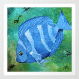 Tropical Fish - Blue Tang  Art Print