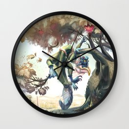 Shell in the Desert Wall Clock