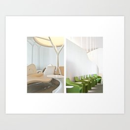 Paris Transit Lounge Art Print