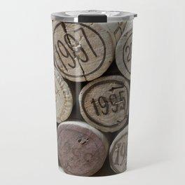 Vintage Wine Corks Travel Mug