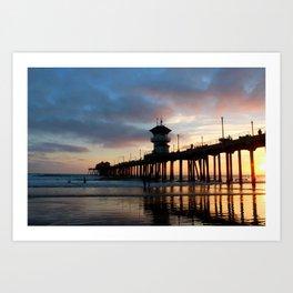 The Huntington Beach Pier Art Print