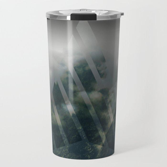 Cloudy mountains Travel Mug