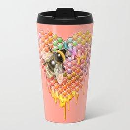 valentines heart, bumblebee, beehive Travel Mug