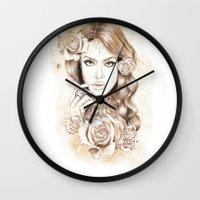 aaliyah Wall Clocks featuring Aaliyah Vintage Art by DejaLiyah