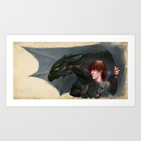 how to train your dragon Art Prints featuring How to Train Your Dragon by James Bousema