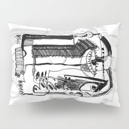 Waiting for Salvation - b&w Pillow Sham