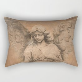 Rustic Angel Lady Woman Spiritual Home Decor Religious Art A322b Rectangular Pillow