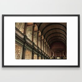 Long Room - Trinity College Dublin Framed Art Print