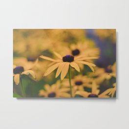 Its all Yellow Metal Print