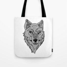 Moony-Eyed Wolf Tote Bag