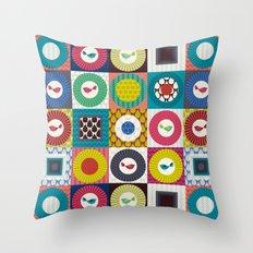 little bird squares Throw Pillow