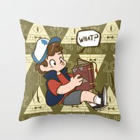 gravity falls Throw Pillows featuring Dipper Pines - Gravity Falls by BlacksSideshow