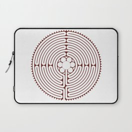 Cathedral of Our Lady of Chartres Labyrinth - Red Laptop Sleeve
