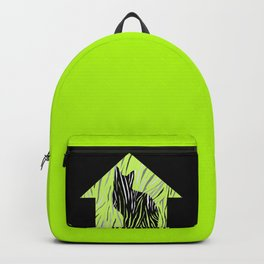 Black House Cat on Grass Backpack