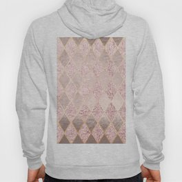 Blush Rose Gold Glitter Argyle Hoody