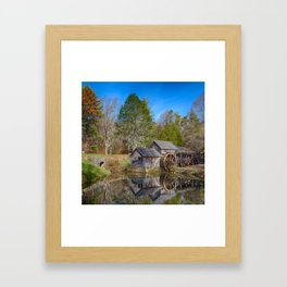 Mabry Mill - Square Framed Art Print