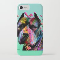 pit bull iPhone & iPod Cases featuring pit bull  by mark ashkenazi
