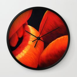 Kissing Lips Wall Clock