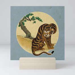Tiger with magpie type-C : Minhwa-Korean traditional/folk art Mini Art Print