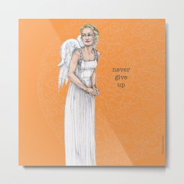 Never Give Up - Better Angels Series Metal Print