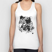 leopard Tank Tops featuring Leopard by DIVIDUS