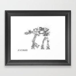 Star Wars Vehicle AT-AT Walker Framed Art Print