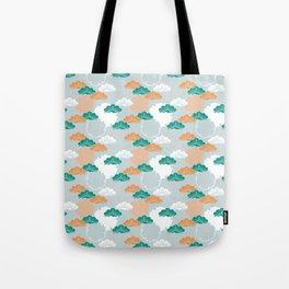 Pine Snowflake Japanese Kimono Pattern Tote Bag