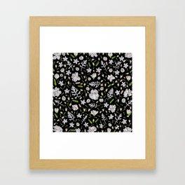 Leaves and flowers (10) Framed Art Print