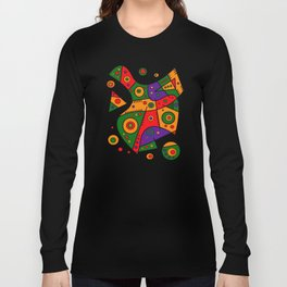 Abstract #240 Pizza Party Long Sleeve T-shirt