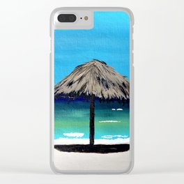 Thatched Umbrella Clear iPhone Case