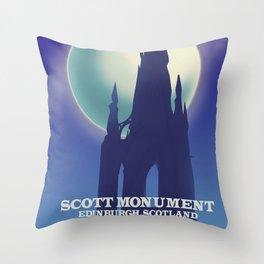 The Scott Monument, Edinburgh,Scotland Throw Pillow