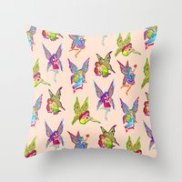 fairies Throw Pillows featuring Fairies by Elizabeth Kate