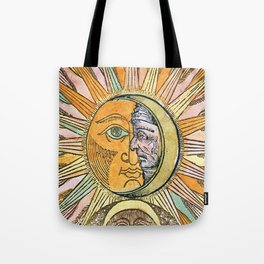 Sun and Moon Face Tote Bag