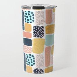 Abstract doodle shapes pattern Travel Mug