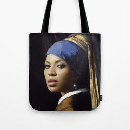 Bey with a Pearl Earring Tote Bag