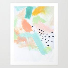 Happy Storm Aqua Art Print