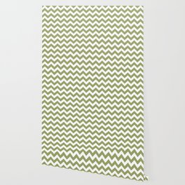 Green Safari Chevron Wallpaper