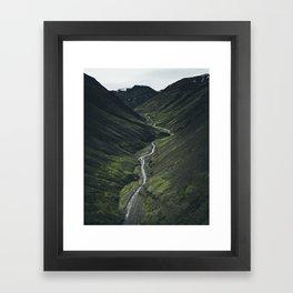 Northern Iceland Stream Framed Art Print