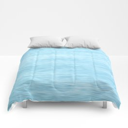Colors of the Sea Water - Clear Blue Comforters