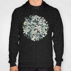 Denim flower circle Hoody