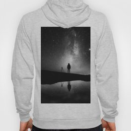 Finland and Galaxy (Black and White) Hoody