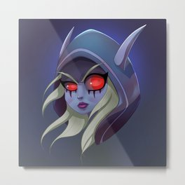 Sylvanas Artwork - WoW Metal Print