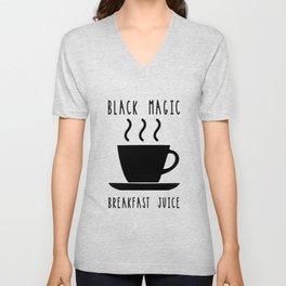 Black Magic Breakfast Juice Coffee Caffeine Morning Unisex V-Neck