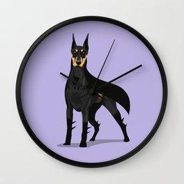 DoberKnight Wall Clock