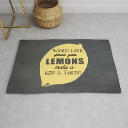 When Life Gives you Lemons Make a Gin and Tonic Rug