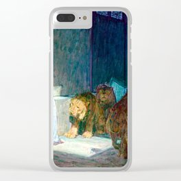 Henry Ossawa Tanner Daniel in the Lions' Den Clear iPhone Case